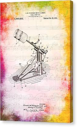 Double Drum Pedal 1921 Canvas Print