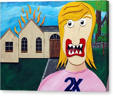 Double-ex Canvas Print by Sal Marino
