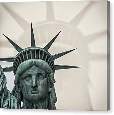 Patriotism Canvas Print - Double Exposure Liberty by Martin Newman