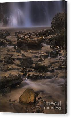 Falling Water Creek Canvas Print - Double Falls Magic by Adam Jewell