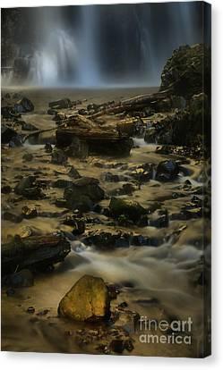 Falling Water Creek Canvas Print - Double Falls Soft Light by Adam Jewell
