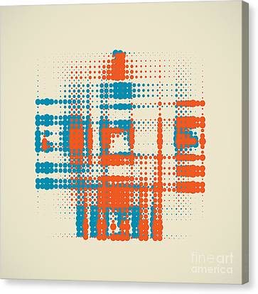 Double Halftone Canvas Print
