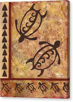 Double Honu Canvas Print by Darice Machel McGuire