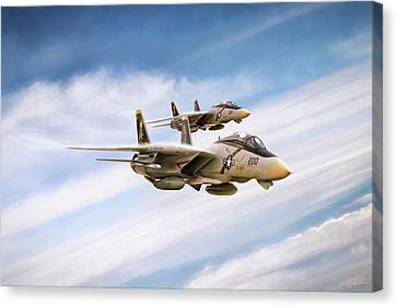 Double Nuts Canvas Print by Peter Chilelli