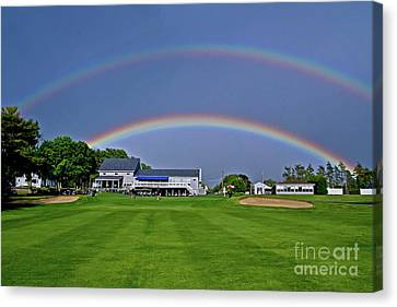 Double Rainbow Canvas Print by Butch Lombardi