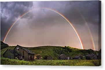 Double Rainbow Rebirth Canvas Print