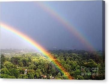 Double Rainbows Canvas Print by Charline Xia
