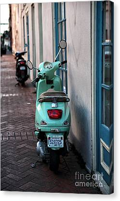 Double Scooters Canvas Print by John Rizzuto