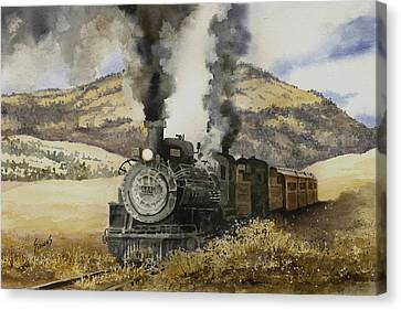 Double Teamin To Cumbres Pass Canvas Print by Sam Sidders