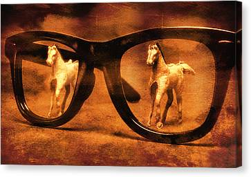 Goth Canvas Print - Double Vision by Jeff  Gettis