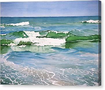 Double Wave Canvas Print