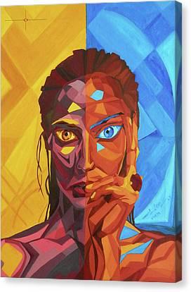 Doubt Daria Werbowy Canvas Print