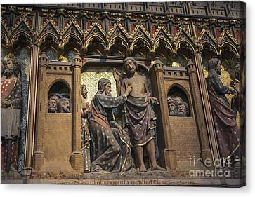 Sacred Artwork Canvas Print - Doubting Thomas Scene by Patricia Hofmeester
