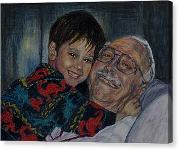 Doug And Papafred Canvas Print by Laurie Tietjen