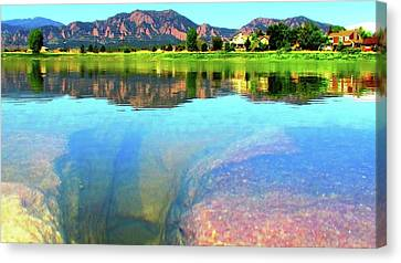Canvas Print featuring the photograph Doughnut Lake by Eric Dee