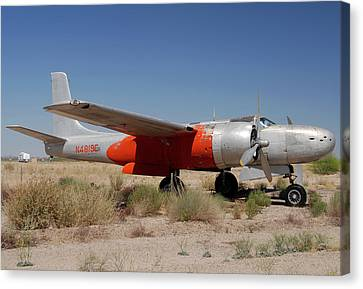 Douglas B-26b Invader N4819e Buckeye Arizona April 29 2011 Canvas Print