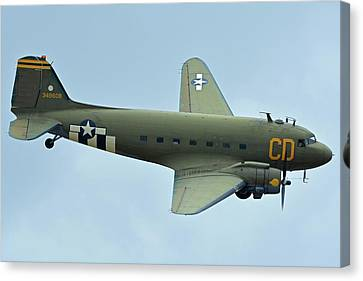 Douglas C-47b Dakota N47sj Betsy's Biscuit Bomber Chino California April 30 2016 Canvas Print by Brian Lockett
