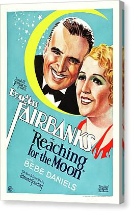 Douglas Fairbanks In Reaching For The Moon 1930 Canvas Print