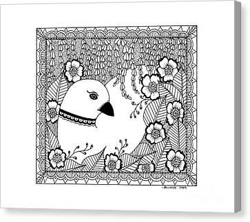 Dove Canvas Print by Billinda Brandli DeVillez