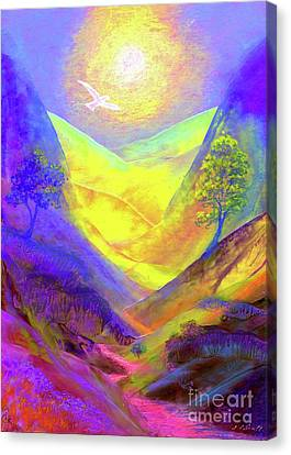 Surreal Art Canvas Print - Dove Valley by Jane Small