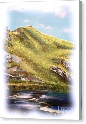 Canvas Print featuring the painting Dovedale by Elizabeth Lock