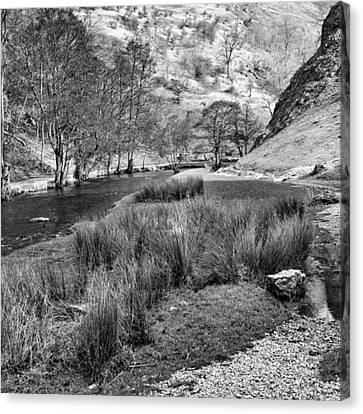Dovedale, Peak District Uk Canvas Print by John Edwards