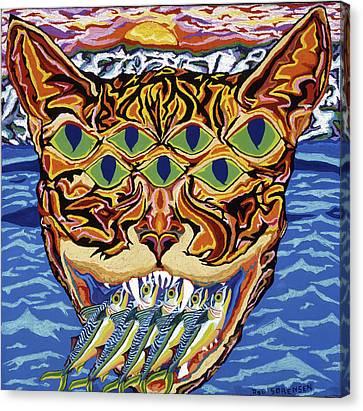 Dover Cat Canvas Print by Robert SORENSEN