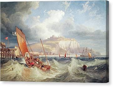 Dover Canvas Print by John Wilson Carmichael