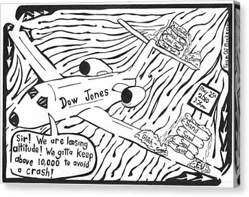 Dow Jones Airlines By Yonatan Frimer Canvas Print by Yonatan Frimer Maze Artist