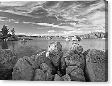 Dowdy Lake In Black And White Canvas Print by James Steele