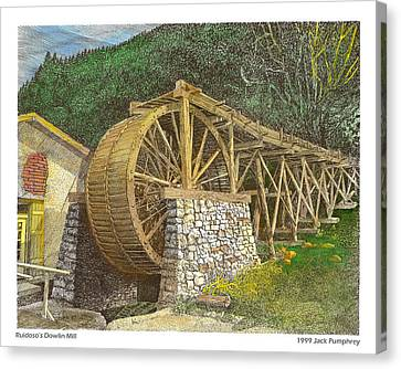 Dowlin Water Wheel Canvas Print by Jack Pumphrey