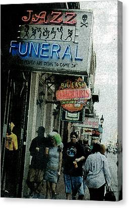 Canvas Print featuring the digital art Down At The French Quarter by Saad Hasnain