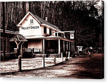 Down At Valley Green Canvas Print by Bill Cannon