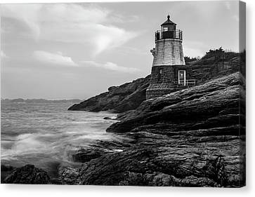 Canvas Print featuring the photograph Down Below Castle Hill Light by Andrew Pacheco