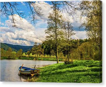 Canvas Print featuring the photograph Down By The Lake  by David Dehner