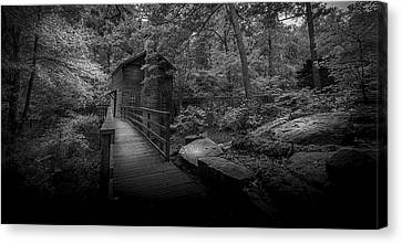 Down By The Mill-bw Canvas Print