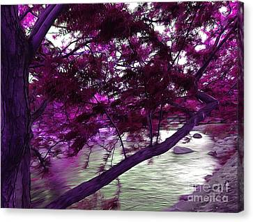 Down By The River Canvas Print by Krissy Katsimbras