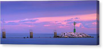 Down By The Sea Canvas Print by Giovanni Allievi