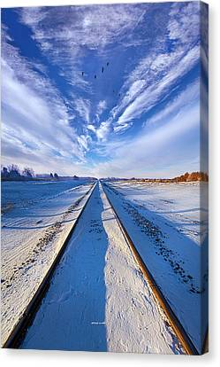 Down By The Tracks Canvas Print by Phil Koch
