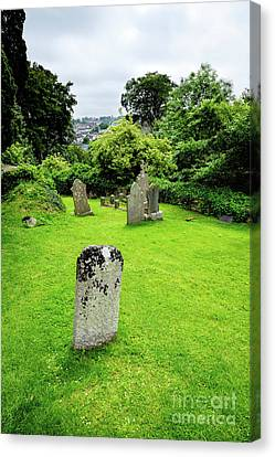 Down Cathedral Graveyard In Downpatrick Northern Ireland Canvas Print