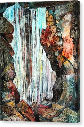 Down In The Underground I Canvas Print by Patricia Allingham Carlson