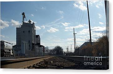 Old Feed Mills Canvas Print - Down Low In The Tracks Near The Ol Mill   # by Rob Luzier