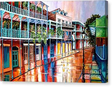 Down On Royal Street Canvas Print by Diane Millsap