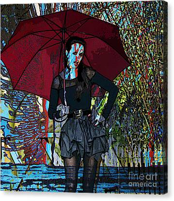 Winter Storm Canvas Print - Down Pour by Tammera Malicki-Wong