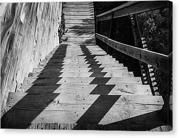 Down Stairs At Bannack Canvas Print