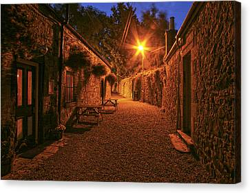 Down The Alley Canvas Print by Robert Och