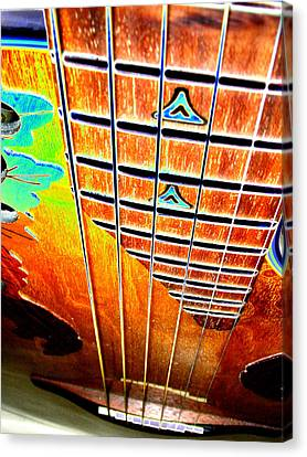 Down The Fingerboard Canvas Print by Peter  McIntosh