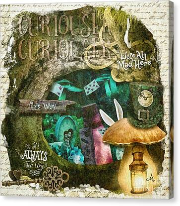 Mad Hatter Canvas Print - Down The Rabbit Hole by Mo T