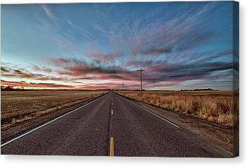 Canvas Print featuring the photograph Down The Road by Monte Stevens