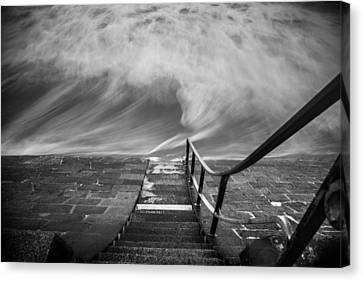 Down The Sea Canvas Print by Cl?ment Delarue